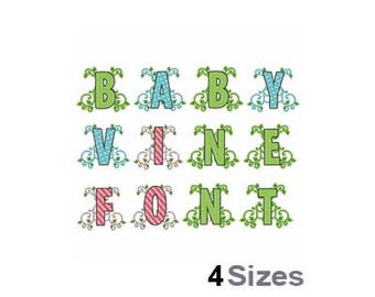 Baby Vine Font - Machine Embroidery Font