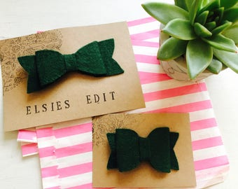 Mossy Green, felt hair bow