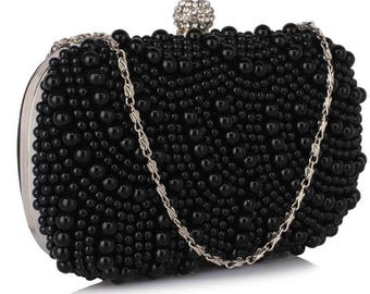 Beautiful Black Pearl Clutch Bag