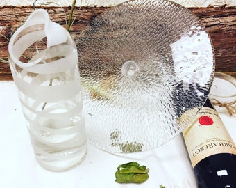 Sandblasted jug pitcher, table, glass, recycled bottle, table pitcher, tableware, kitchen, gift