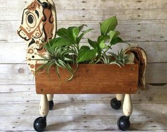 Vintage Horse Ride-on-toy Plant Holder Planter