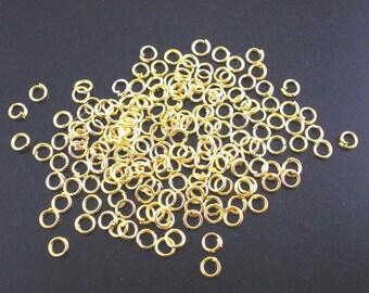100 rings 3mm gold