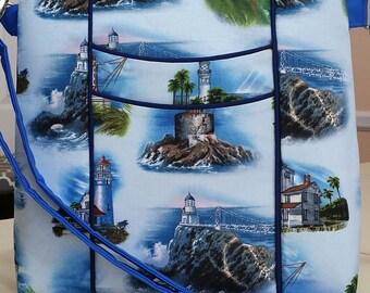 Blue Lighthouses Purse