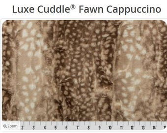Luxe Cuddle Fawn Minky - Shannon Fabric Minky - Hide Minky - Luxe Minky - Rose Minky -Fawn Minky - Deer Minky  - SHIPS TODAY