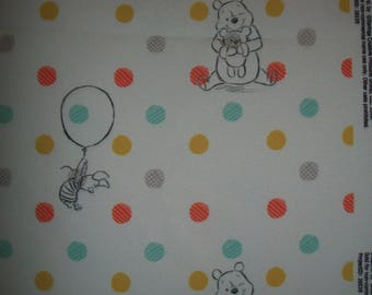"Springs Winnie the Pooh Cotton Polka Dot Fabric 54"" x 48"""
