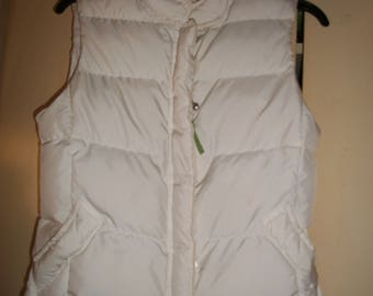 Vintage J.CREW White, Winter, Puffy Vest, Size XS