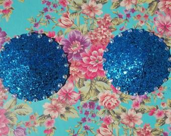 Glitter Pasties with Rhinestone Embellishment