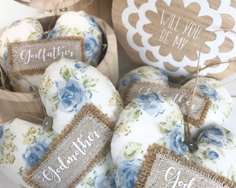 Will you be my, godmother, godfather, godparent, bridesmaid, maid of honour, flower girl, keepsake gift, hanging heart, christening, wedding