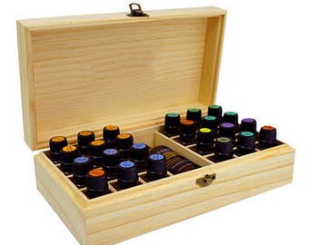 25 Holes Wooden Box for Essential Oils