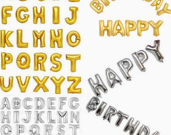 40 inch Silver or gold A-Z letter Balloons,Helium balloons