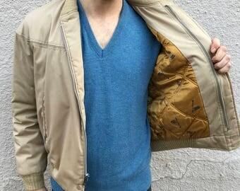 Vintage bomber canvas jacket