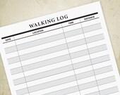 Walking Log Printable PDF...