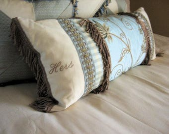 His and Hers, Hers and Hers, Or its Him and Me custom embrodered pillows