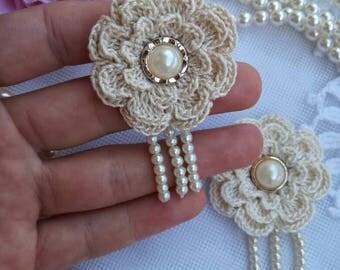 2pcs crochet flowers