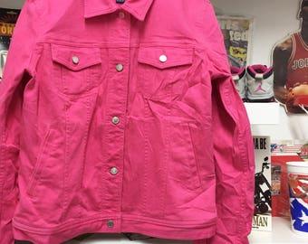 Chaps pink Jean jacket