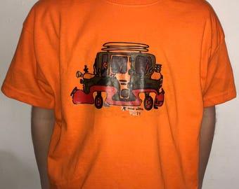 Boys T-Shirt/ hand drawn and printed