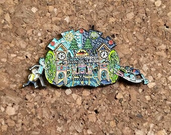 Electric forest 2017 rick and morty Heady hat pin