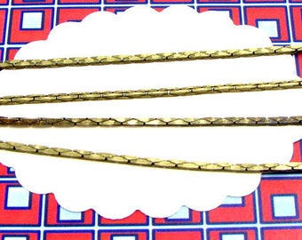 1m snake-like 1,3mm chain bronze coloured, chain for bracelets and necklaces, chain for beads, CHB21