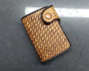Hand tooled,leather,wallet,tooled leather ,mens wallet ,western wallet ,biker wallet ,roper wallet ,mens leather wallet ,veg tan leather