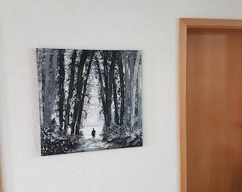 Acrylic art acrylic painting abstract canvas stretcher frame 80 x 80 cm encounter