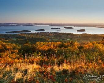 "Maine Photo | ""Bar Harbor View"" | Acadia National Park Print - Cadillac Mountain Photo - Bar Harbor Photo - Bar Harbor Print - Maine Picture"