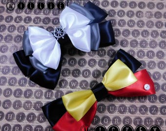 Steam Boat Willie and Mickey Mouse Bow