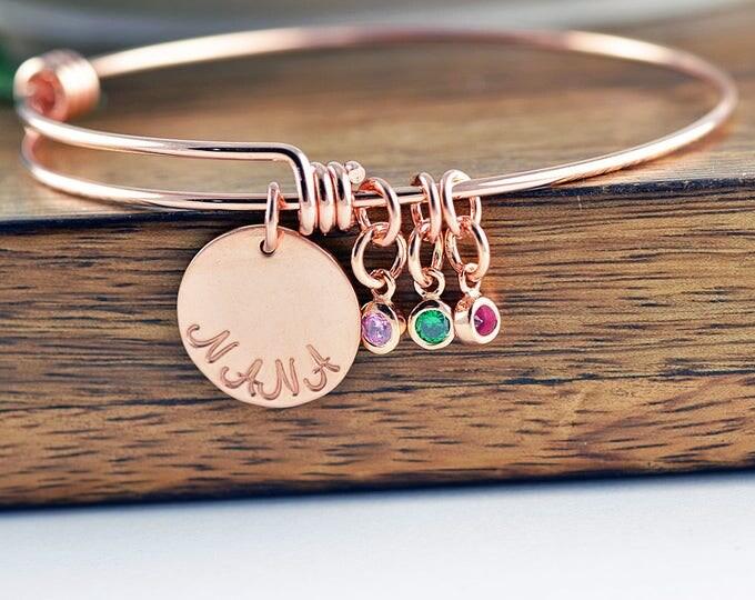 Nana Gift - Family Bracelet - Birthstone Bracelet - Birthstone Jewelry - Grandmother Bracelet - Mothers Day Gift
