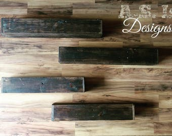 Reclaimed Wood Floating Shelves, Solid Wood Shelf, Floating Wood Shelf, Shelving, Storage, Home Decor, Rustic Wood Shelf, Book Shelf, Shelf