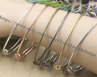 5colors for choose ---wholesale 100pieces Adjustable 64mm Bangle Wire Bracelet Expandable Bangle Bracelets (# 0168)