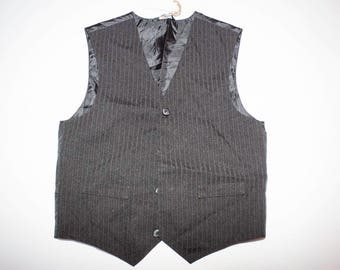 Vintage black vest with white lines size XS