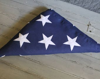 Large Canvas American Flag