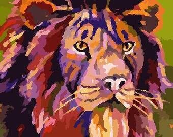 Colored Lion
