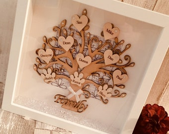Personalised gifts, family tree