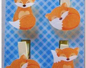 Solde -5% Set of 4 tweezers FOXES - home Decoration