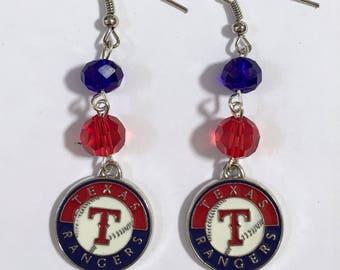 Texas Rangers Dangle Earrings