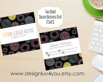 Square Consultant Business Card | Consultant Card | Business Card | 2.5x2.5 |Two Sided Card **DIGITAL FILE ONLY**