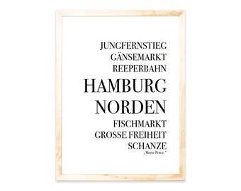 Poster, print, Hamburg, saying, quote, sayings, quote