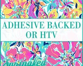 LP Inspired Floral Pattern #4 Adhesive or HTV Heat Transfer Vinyl for Shirts Crafts and More!