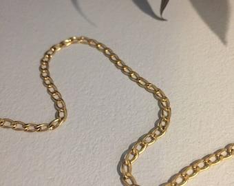 Simple Gold Chain Choker
