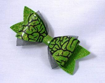 BRAINS glitter hair bow