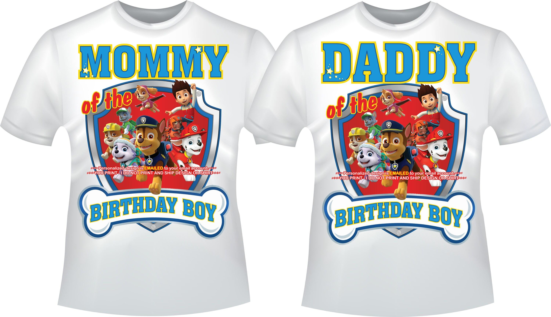 2nd Birthday Shirt Boy Paw Patrol