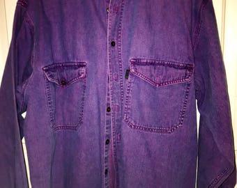 Vintage purple Denim button up