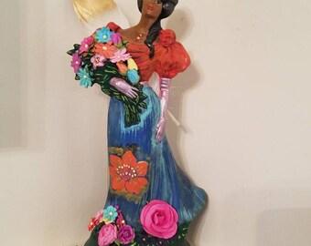 Victorian Aztec Flower Goddess  Xochiquetzal
