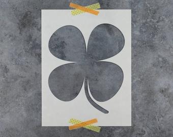 Shamrock Stencil - Reusable DIY Craft Stencils of a Four Leaf Clover Shamrock