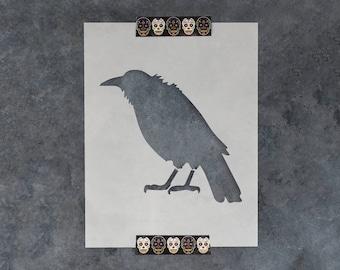 Crow Stencil - Reusable DIY Craft Stencils of a Crow