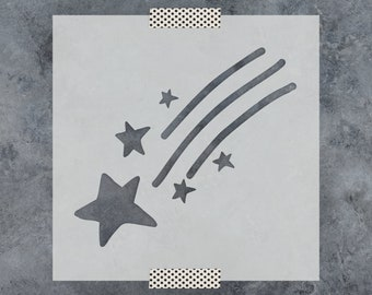 Shooting Star Stencil - Reusable DIY Craft Stencils of a Shooting Star