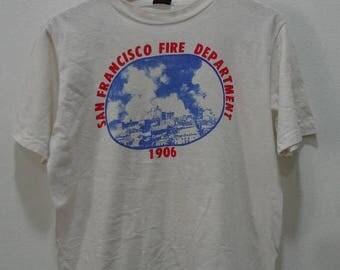 ON SALE 20% Vintage San Francisco Fire Department t shirts Size M