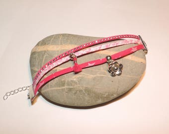 Bracelet suedine liberty flower charm ღ ღ ღ