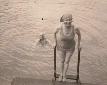 Bathing Beauties - Original Antique Photo