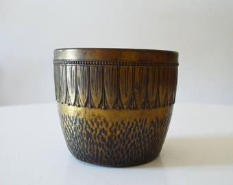 Vintage brass boho flower pot planter plant pot gold bohemian